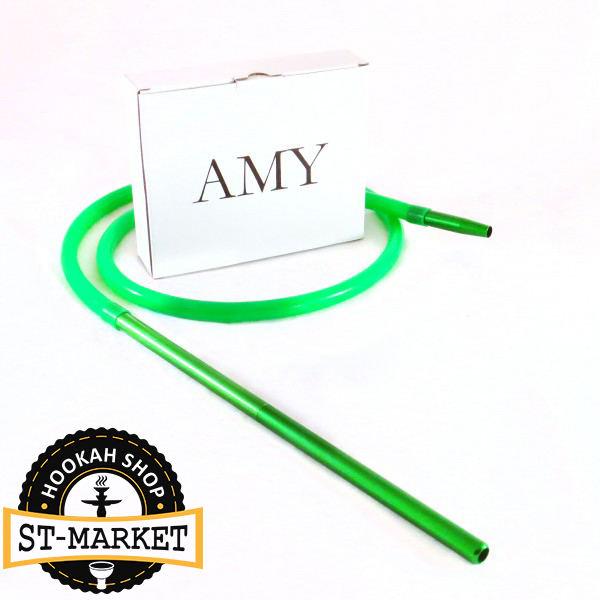 шланг для кальяна силиконовый amy deluxe зеленый