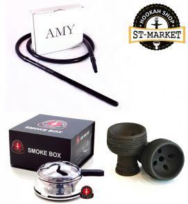 набор для кальяна чаша rs bowls smoke box шланг amy