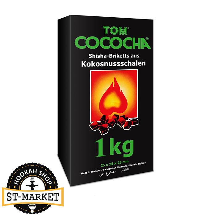 tom cococha green 1 кг кокосовый уголь для кальяна