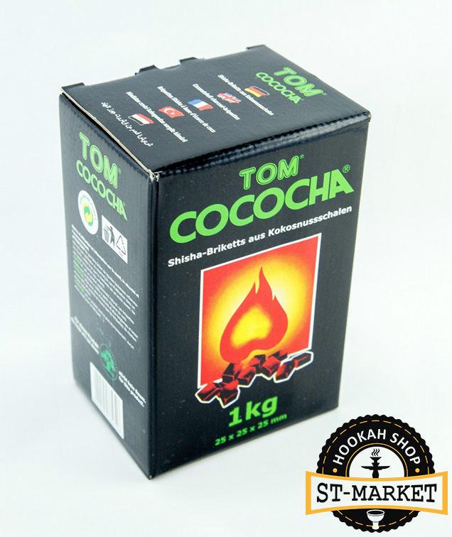 tom cococha green 1 кг кокосовый уголь коробка