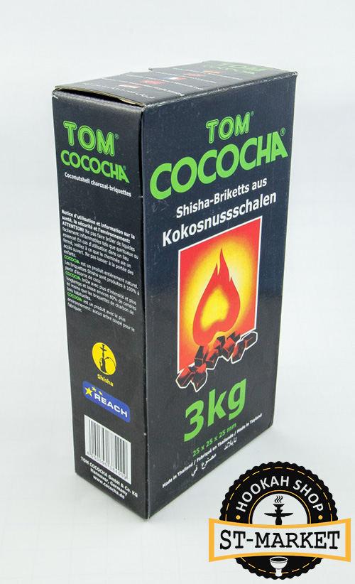 tom cococha green 3 кг кокосовый уголь для кальяна