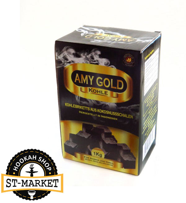 кокосовый уголь для кальяна amy gold